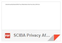 SCIBA Privacy Affiliated Member Data Privacy Notice 25-05-18